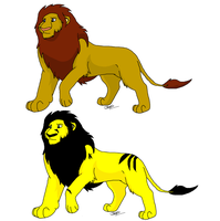 Lion Adoptables by snails1000