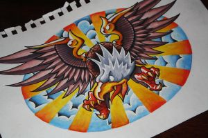 Rarrr I'm an Eagle - Tattoo Design by artisticrender