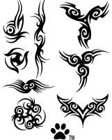 photoshop tatoo brushes by miquelx