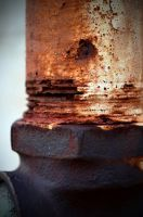 Rusted Pipe at The Industrial complex by PAlisauskas