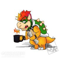 A Cup Of Joe To Help Bowser Go ... by BKcrazies0