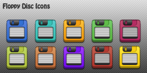 Floppy Disc Icons for iPhone by yrmybybl