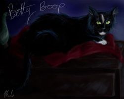 Betty Boop the Cat by malika-mango