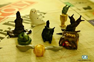 Clay Harry Potter Monopoly Pieces by SugiAi