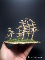 Penjing style forest wire bonsai tree by Ken To by KenToArt