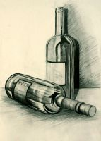 Stillleben Bottles by pardonmaswag