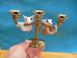 Dragon Candleabra by Creatures-of-Fae