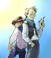 A pair of moronic cowboys by tribute27