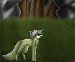 Lonely In The Forest by CleaCutehKitten