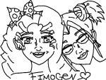 Fiona and Imogen (Fimogen) from Degrassi by mintkathy