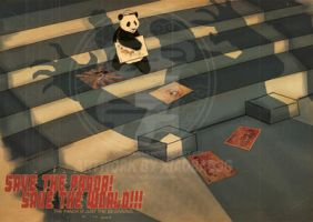 Save the panda. Save the world by xiaobaosg