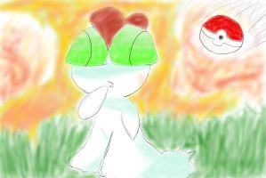 Ralts - Catch me in the auburn sky by Saradema