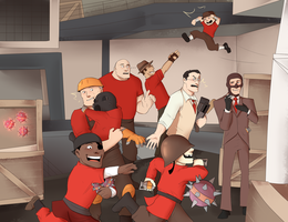 TF2 Family by BIazeRod