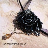 Gothic Corsage Necklace by BitterIsland