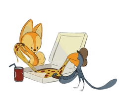 Pizza Night by carriehankins