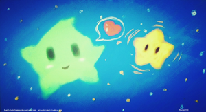 Green Luma and Power Star by PrettyLadyCosmos
