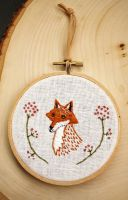 New Fox Embroidery by Groovygirlsuzy17