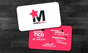 Melina Guillen Personal Card by MyPink