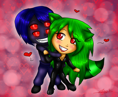 + - Milly Coon and Diablo - + [V-Day] by PrincessNetherrealm