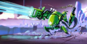 Green Bot by Br-Artemius