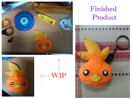 Torchic Plushie Keychain by ShinomeKazuri