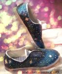 Galaxy shoes by Kiwi-chu