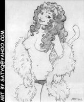 Omaha the Cat Dancer feather boa striptease by SatyQ