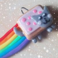 Nyan Cat Charm by DarkPartOfCarrot