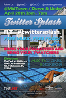 Twitter Splash Pool Party Flyer by DrCrunk