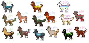 Lots of Puppies -01- by moonlite-adopts
