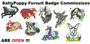 SaltyPuppy Badges by SaltyPuppy