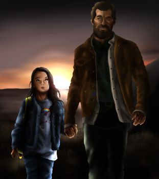 Father Daughter Walk by MegBeth