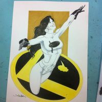Phantom Girl commission by danielhdr