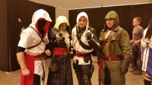 assassins creed cosplayers by marty0x