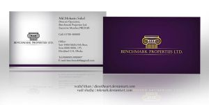 Benchmark Business Card by inkrush