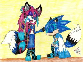 :Gift: Alyssa and Sonic Tribal by Sonicemma