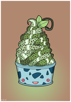 Bulbasaur Mint And Chocolate Ice Cream by PixieDust01