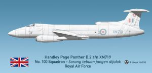 RAF Handley Page Panther B.2 - 100 Squadron by comradeloganov
