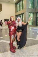 Iron Man and Storm by Stormfalcon