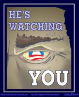 Obama is Watching You by Conservatoons