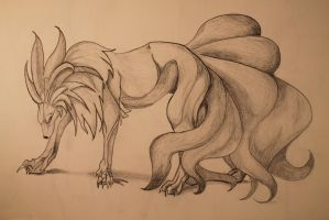 Ninetails by Princess-of-Stardust