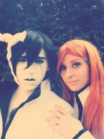 Ulquiorra and Orihime Cosplay 4 by Asteria91