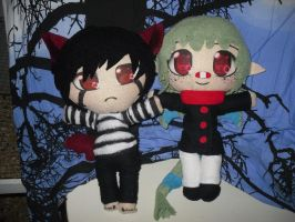 Roku and Akito Plushies by Homohelvetti
