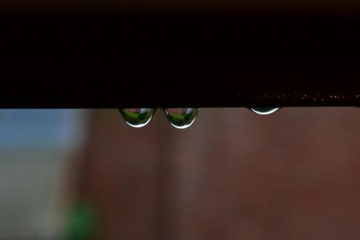 Reflection in a raindrop by SpoonH