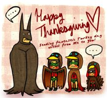 Holy Turkeyday Batman by CrimsonEscapist