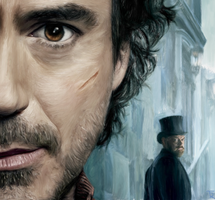 Digital Painting: Robert Downey Jr. Sherlock Holme by dulceteffusion