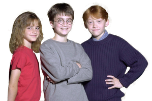Harry Potter and The Sorcerer's Stone Trio HQ PNG by ReligioArt