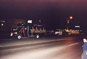 2 Christmas Floats at Night by Texas1964