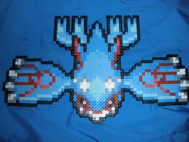 Kyogre, Perler Beads by DarkTangrowth