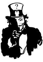 Anonymous Uncle Sam - A3 for PRINT by OpGraffiti